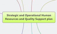 Strategic and Operational Human Resources and Quality Support plan