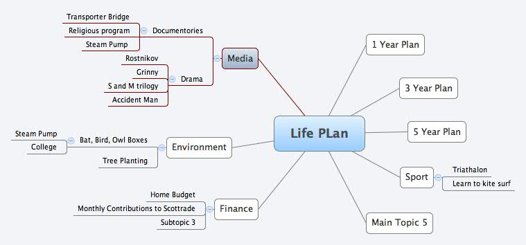 Life PLan -- XMind Online Library