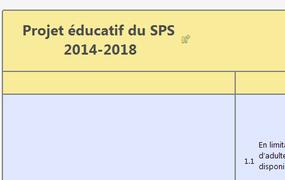 Projet éducatif du SPS 2014-2018