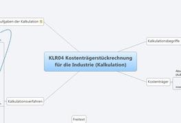 KLR04 Kostenträgerstückrechnung für die Industrie (Kalkulation)