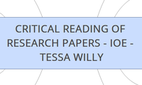 CRITICAL READING OF RESEARCH PAPERS - IOE - TESSA WILLY