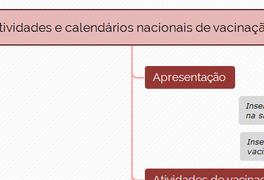 Atividades e calendários nacionais de vacinação