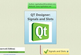 signals and slots qt