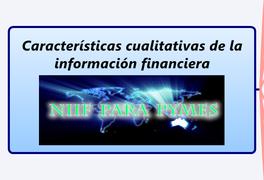 Características cualitativas de la información financiera