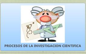 PROCESOS DE LA INVESTIGACION CIENTIFICA